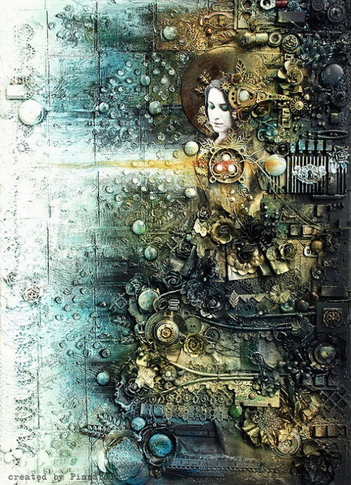 cyberpunk art by Anna Dabrowska