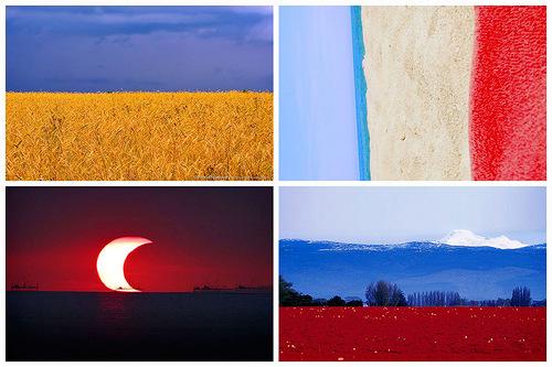 landscape mimics national flags