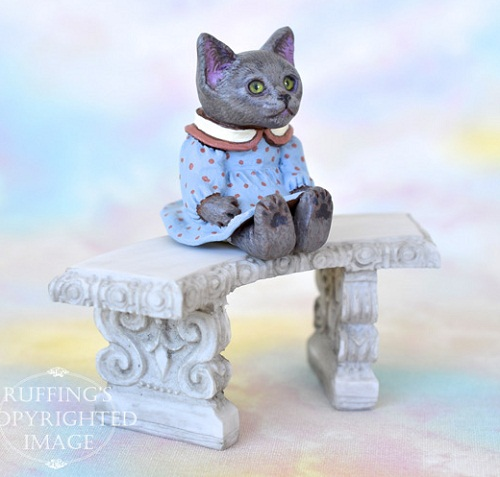 Polly, Russian blue kitten, by American artist Max Bailey
