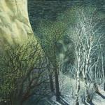 Hidden faces in paintings by Russian artist Vladislav Koval paintings