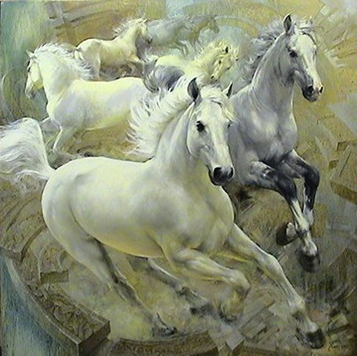 Beautiful painting by Belarusian artist Yuri Yarosh