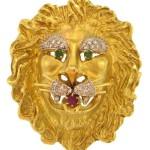 Hammerman Brothers Lion Head Pin