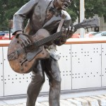 "Monument to still live guitarist Chuck Berry, Charles Edward Anderson ""Chuck"" Berry (born October 18, 1926) – one of the earliest legends of rock and roll (5th place of the list of the greatest guitarists)"