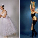 Heba Abdel Fattah. Fragment from the ballet 'Giselle'. Bolshoi Theatre, 1998 (left). The