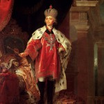 """Vladimir Borovikovsky. """"Paul I in the crown, dalmatic and signs of the Order of Malta."""" 1820"""