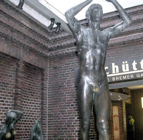 The bronze statue in the German city of Bremen