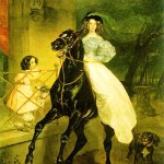 The reproduction of painting 'Horse rider' by Karl Bryullov, 1832, from the miniature book 'World Masterpieces of Art'