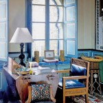 Interior Colors and design in a legendary Yves Saint Laurent Palace in Marrakech
