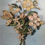 """""""The big bouquet"""". Diamonds, emeralds, gold, silver. About 1760"""