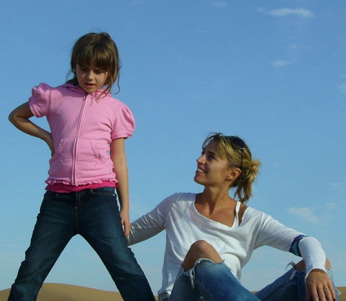 Asya Webster and daughter Nika