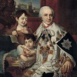 Portrait of Count Grigory Kushelev with children. 1801