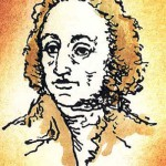 Johann Wolfgang von Goethe, illustration from the miniature book by Anatoly Konenko
