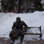 Nizhny Novgorod, Theatre Square, the monument to a Russian actor Evstigneev