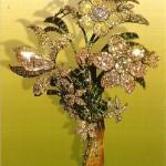 """The big bouquet"". Diamonds, emeralds, gold, silver, 16 x 21 cm near 1760"