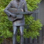 Monument to American singer-songwriter and musician Hank Williams (September 17, 1923 – January 1, 1953), born Hiram King Williams, one of the greatest country music artists of all time