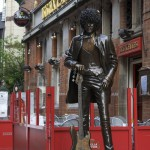 "Monument to bass guitarist Philip Parris ""Phil"" Lynott (20 August 1949 – 4 January 1986), Irish singer and musician who is best known for being the founding member, principal songwriter, lead vocalist and bassist of the Irish rock band Thin Lizzy"