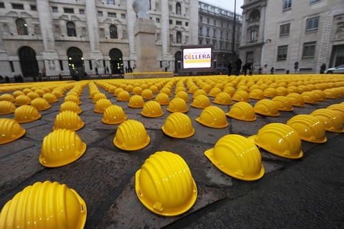 Yellow protest in Milan