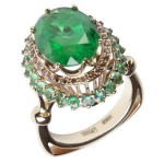 Emeralds stand out among the other gems for its fragility. They can crack even a slight shock