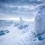 Ice sculptures of Baikal