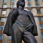 Monument to Student, in front of the main building of the South – Ural State University, Chelyabinsk, Russia