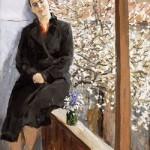Nina Vatolina, self-portrait, 1947