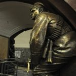 Revolutionary sailor. Sculptor Matvey Manizer. Moscow metro station Square of Revolution