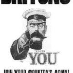 The iconic, much-imitated 1914 Lord Kitchener Wants You poster.
