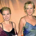 Agnetha and her daughter Linda in 2009