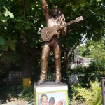 Statue of Jamaican singer-songwriter and musician Bob Marley