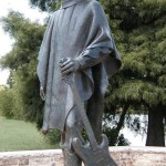 Monument to Stevie Ray Vaughan (October 3, 1954 – August 27, 1990), an influential guitarist, who died when his helicopter crashed into the hill. He was born and raised in Dallas, Texas