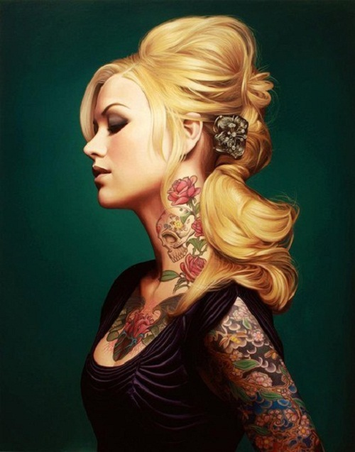 Beautiful tattooed models-Tattoo as ancient art