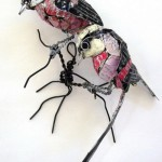 Beautiful birds - recycled art by Barbara Franc