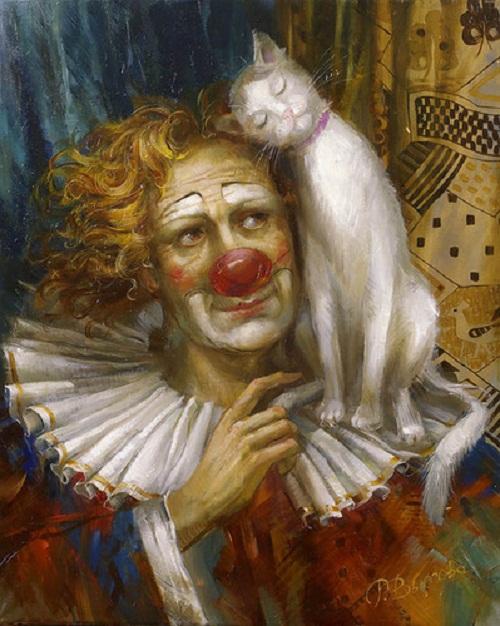 Sad clowns by Rimma Vyugova