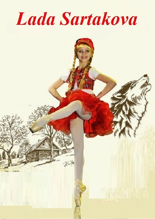 Talented and beautiful Lada Sartakova, 10-year-old ballerina from St. Petersburg, Russia