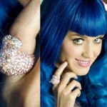 Katy Perry in full-on blue wig mode donning Hippo Ring