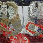 Inspired by 'The Cholmondeley Ladies/Sisters/Twins' recycled art by Barbara Franc
