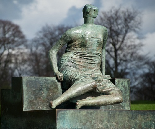 Henry Moore's sculpture Draped Seated Woman, also known as Old Flo