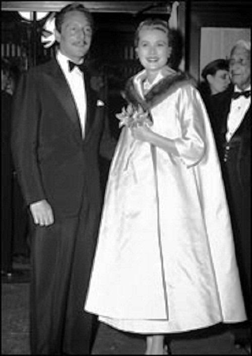fashion designer Oleg Cassini and Grace Kelly