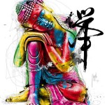 Bouddha, Feng Shui, painting by French artist Patrice Murciano