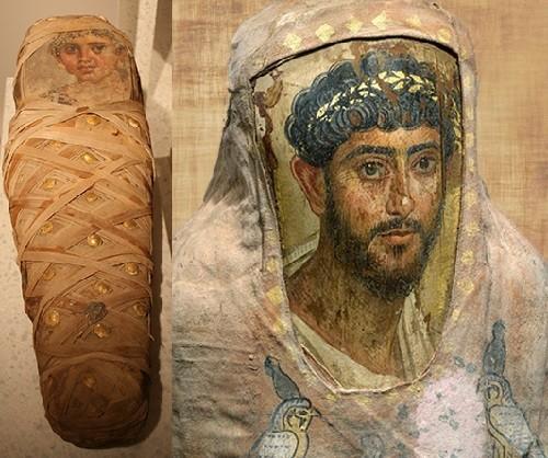 Faiyum funerary portrait