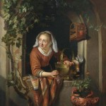 Gerrit Dou cook with bunch of grapes