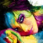 Marion Cotilard, painting by French artist Patrice Murciano