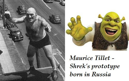 Maurice Tillet Shrek prototype born in Russia