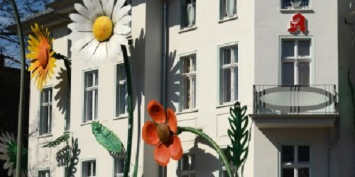 Oversized Flower at the Medical Center in the Treptow Berlin