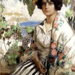Painting by Konstantin Ivanovich Gorbatov, Russian post-impressionist painter