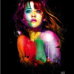 Sophie, colorful painting by French artist Patrice Murciano