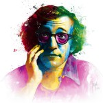 Woody Allen, colorful painting by French artist Patrice Murciano