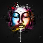 Zen, colorful painting by French artist Patrice Murciano