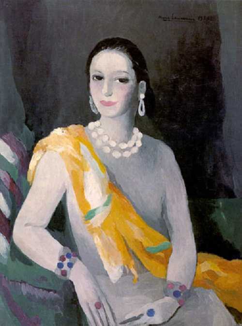 Helena in painting by Marie Laurencin (1883 - 1956), French painter