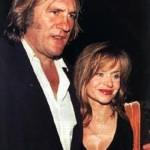 Gerard Depardieu and Elisabeth Guignot